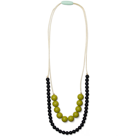 Deila Silicone Teething Necklace - Sweet Pea & Black Licorice
