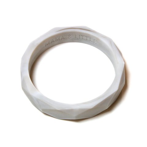 Finley Silicone Teething Bangle - Marble