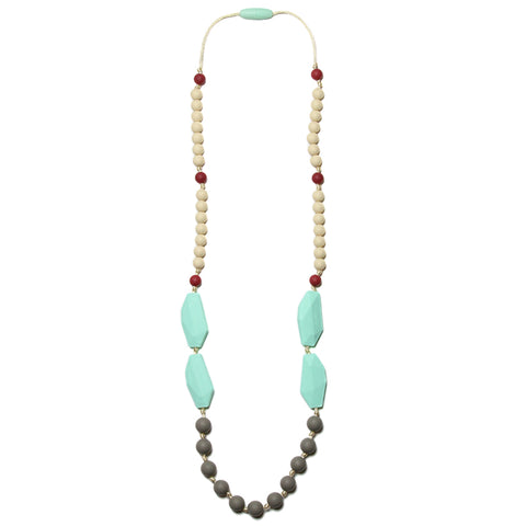 Frida Silicone Teething Necklace - Sweet Mint