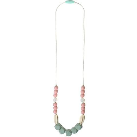 Luna Silicone Teething Necklace - Seafoam