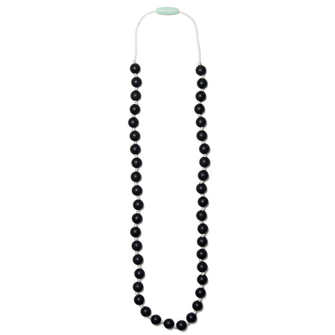 Lexi Silicone Teething Necklace - Black & White