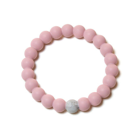 Linda Silicone Teething Bracelet- Rose Quartz