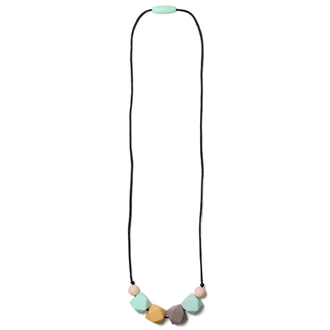Nicole Silicone Teething Necklace- Sweet Mint