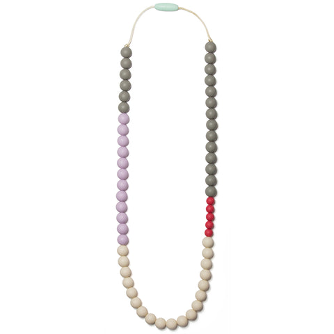 Olivia Silicone Teething Necklace- Lavender