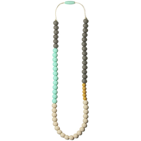 Olivia Silicone Teething Necklace - Sweet Mint