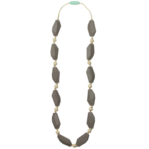 Ophelia Silicone Teething Necklace- Pebble