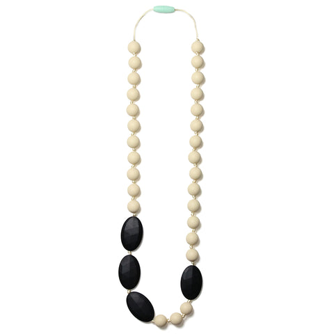 Rachel Silicone Teething Necklace- Black Licorice