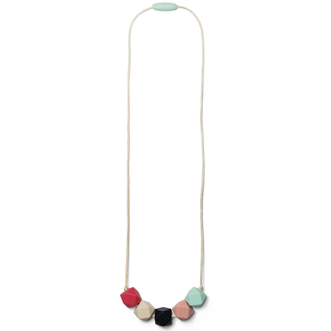Teresa Silicone Teething Necklace- Sweet Mint