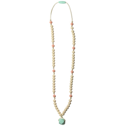 Zooey Silicone Teething Necklace - Sweet Mint