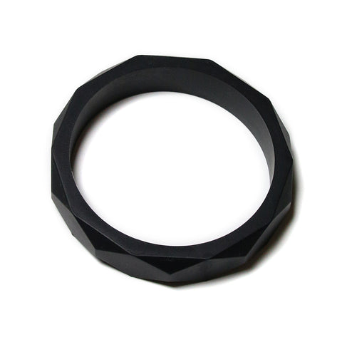 Finley Silicone Teething Bangle - Black Licorice