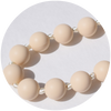 Lexi Silicone Teething Necklace - Cream