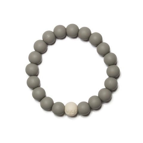 Linda Silicone Teething Bracelet- Pebble