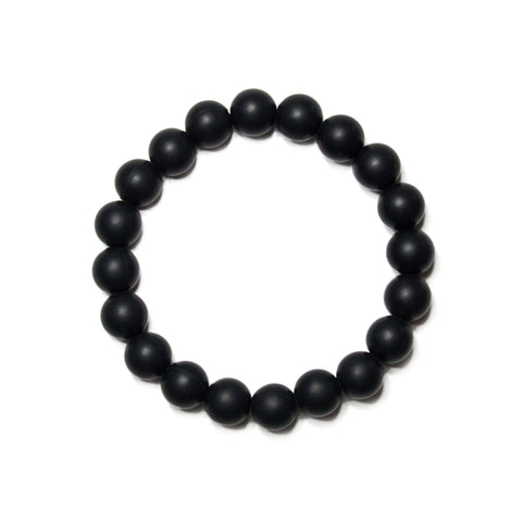 Michelle Silicone Teething Bracelet- Black Licorice