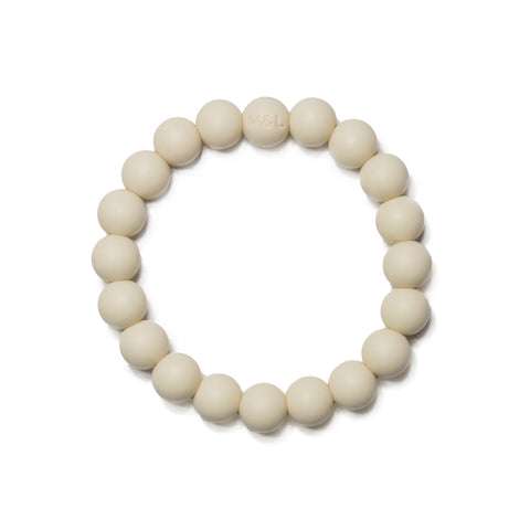 Michelle Silicone Teething Bracelet- Cream