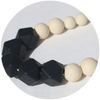Sol Silicone Teething Necklace - Black Licorice