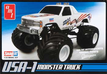AMTAMT672L/12 - 1/32 Snap USA-1 4x4 Monster Truck w/Decals