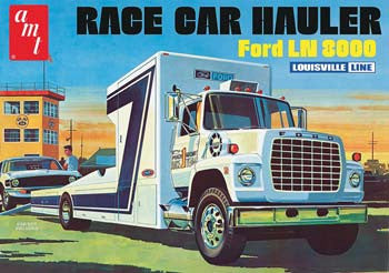 AMTAMT758/06 - 1/25 Ford LN 8000 Race Car Hauler