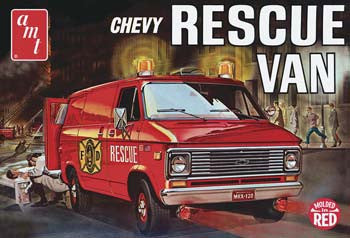 AMTAMT851/12 - 1/25 '75 Chevy Rescue Van Red