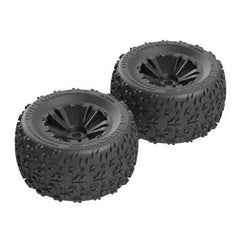 ARAAR550013 - Copperhead MT 6S Tire/Wheel Glued Black (2)