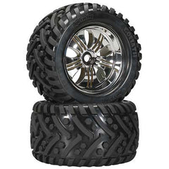 HPI4728 - Mounted Goliath Tire Tremor Whl Chrm (2)