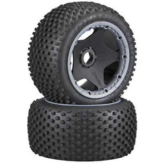 HPI4789 - Dirt Buster Block Tire HD Cmpnd/Black Whl (2)