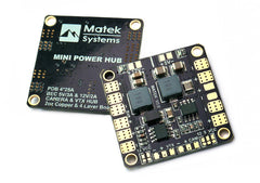 MATEK MINI POWER DISTRIBUTION BOARD WITH BEC 5V & 12V 3A: Matek-HUB5V12V