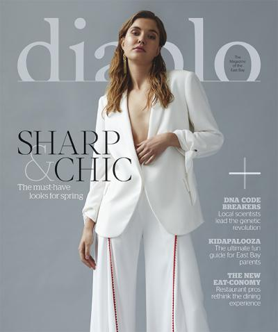 Maral Rapp press Diablo Magazine cover, styling by Jeneffer Jones
