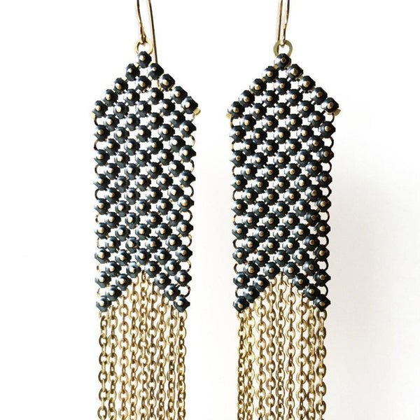 Blackpoint Slim Mesh Earrings