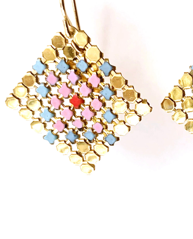 Petit Fours Mesh Earrings - Pink