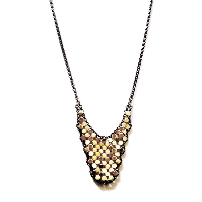 Large Drip Mesh Necklace