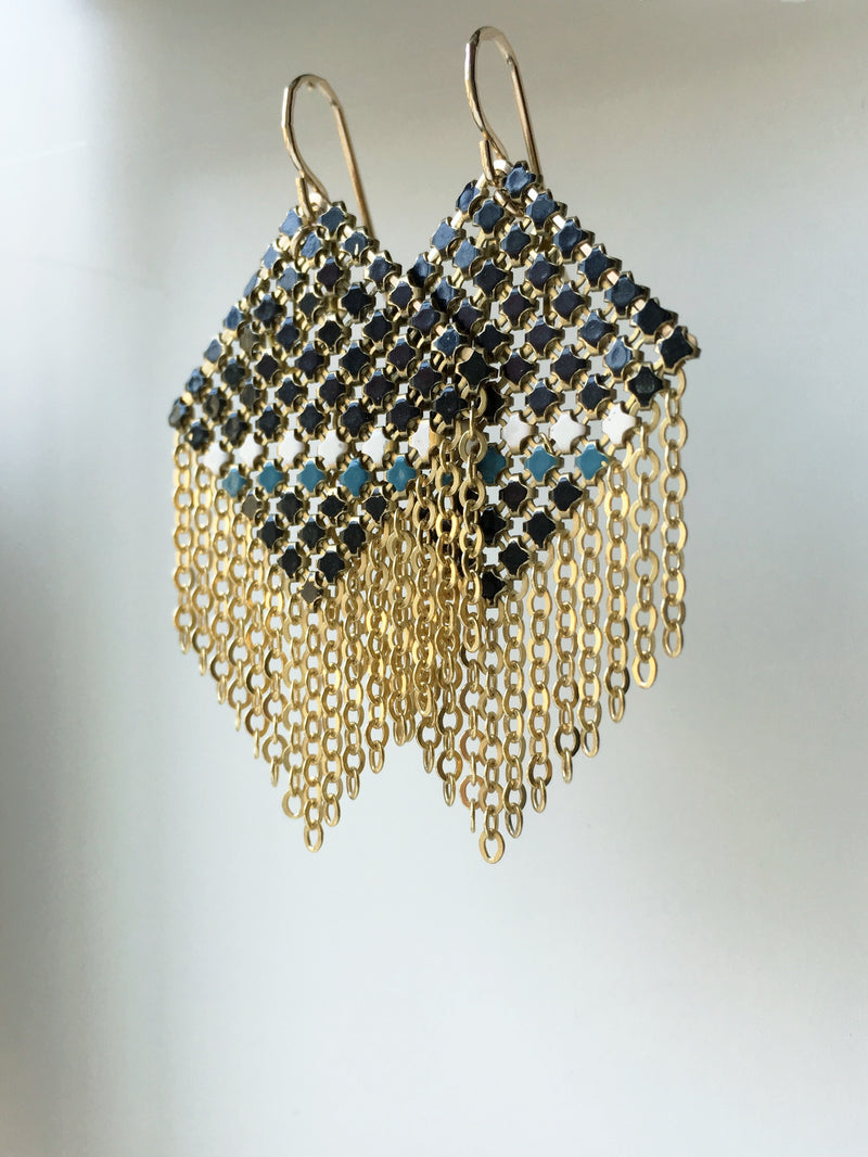 Bisect Mesh Earrings