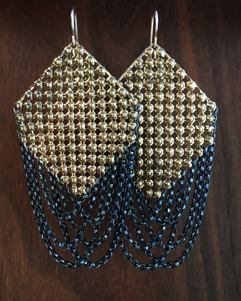 Machine Age Mesh Earrings