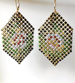 Faded Rose Antique Mesh Earrings