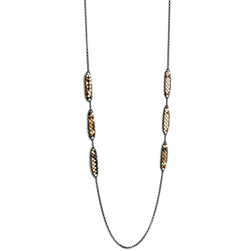 Inline Petal Mesh Necklace