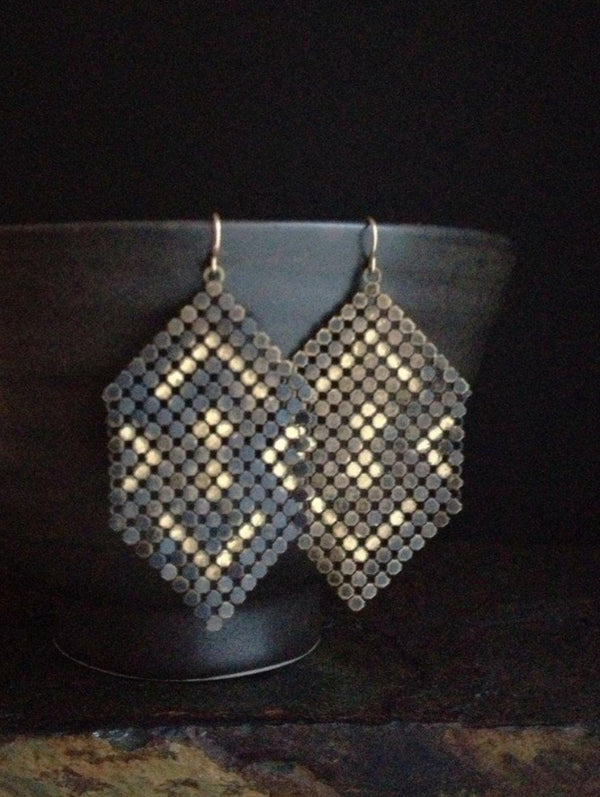 Ghosted Mesh Earrings Large