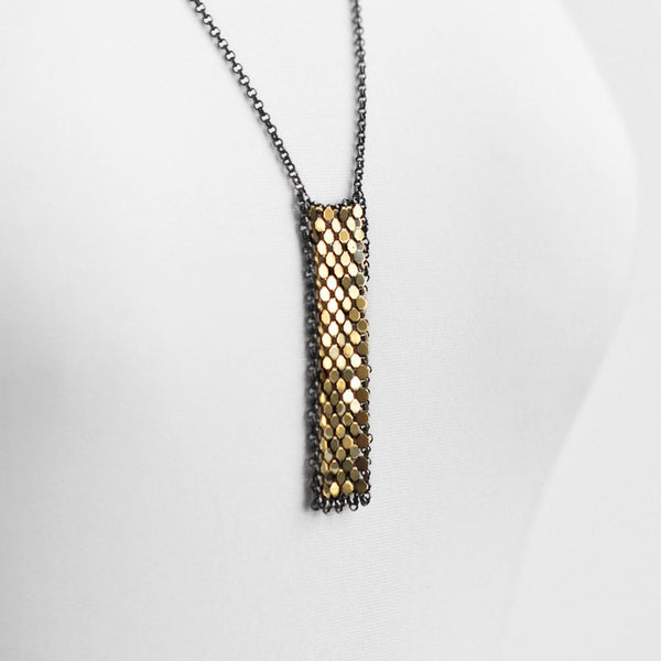 Long Bar Mesh Necklace