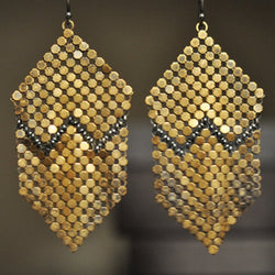 Rustic Mountain Mesh Earrings
