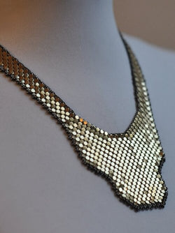 Shield Mesh Bib Necklace