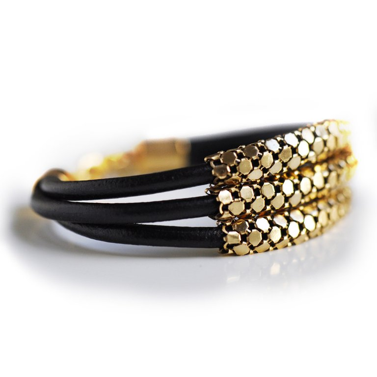 Stacked Mesh Bracelet Gold