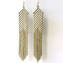 Whitepoint Slim Mesh Earrings