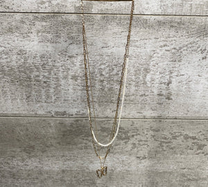 Crystal Butterfly Chain Necklace