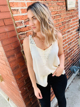 Load image into Gallery viewer, Ivory Lace Front Tank
