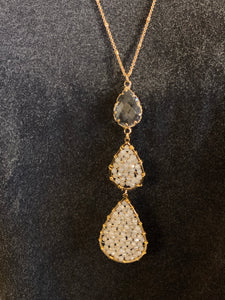 Double Crystal Pendant