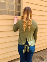 Load image into Gallery viewer, Olive Long Sleeve Back Knot