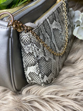 Load image into Gallery viewer, Pewter Double Crossbody Bag