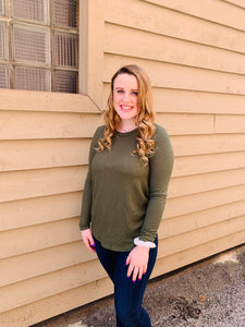 Olive Long Sleeve Back Knot