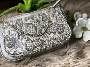 Pewter Double Crossbody Bag