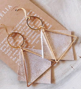 Diamond Triangle Detailed Earring