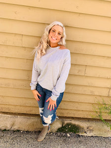 Single Cold Shoulder Sweatshirt