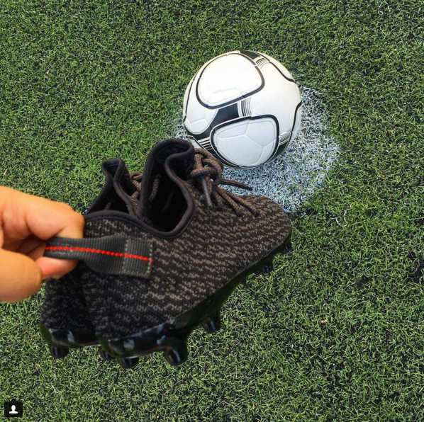 509443fb7bc ADIDAS YEEZY BOOST 350 SOCCER CLEATS FROM ART BASEL - The Sole Library